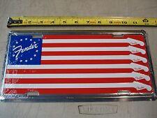 "FENDER ""American Flag"". LICENSE PLATE. guitar bass case amp acoustic. BRAND NEW!"