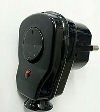 Winkelstecker Schukostecker Stecker schwarz Schalter + LED AWA Schutzkontakt TOP