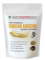 Korean Ginseng Powder - High Strength 10:1 Extract (Premium Panax) Choose Size