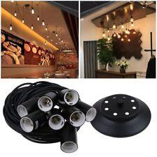Retro Flex Cable Ceiling Pendant Lamp Light Set E27 Fitting Vintage Bulb Holder