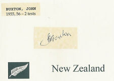 JOHN BUXTON NZ ALL BLACK SIGNED RUGBY CARD