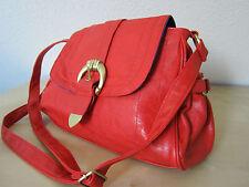 Shopper Abendtasche Handtasche Satchel rot Primark Kunst-Leder NEU Koralle cross