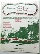 Songbook HAWAIIAN SING A LONG LYRIC BOOK  1967 Criterion Publ. Don HO etc.