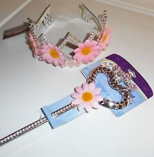 Just Pretending Dress-Up Fun Tiara & Wand Pastel Pink Silver Yellow 2-Piece Set