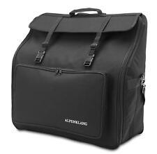 48 Bass Accordion Bag Transport Case Gigbag Pocket Padded Storage Straps Black