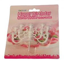 Portacandeline bianco in plastica (9 candeline incl.) per torte