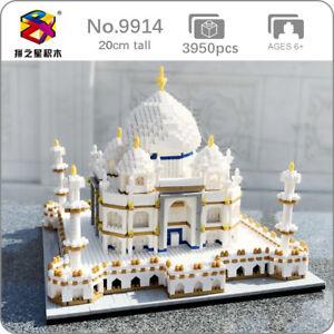 3950pcs World Architecture Taj Mahal Palace DIY Mini Diamond Blocks Building Toy
