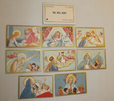 The Hail Mary 8 Matched Pictures J.Gouppy Printed in Belgium Vintage 1930s NICE
