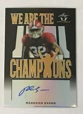2018 Leaf Valiant - We Are The Champions RC Auto #d 4/5 RASHAAN EVANS - Alabama