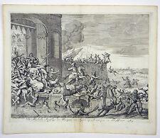 Sostengono attentato Anversa Belgio Fiandre RAME chiave LUYKEN 1680 #d899s