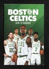 Boston Celtics--2018-19 Pocket Schedule--Irving/Hayward/Horford