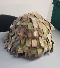 New M/L Tailor Made British Army MK7 Helmet Cover - Scrim - Camouflage - Airsoft