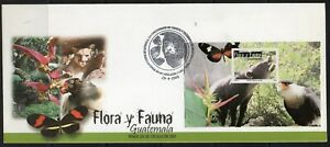 Guatemala FDC stamps flora and fauna