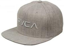 RVCA Twill Mens Snapback Hat (NEW) 6 Panel VA Cap - HEATHER GREY Ruca FREE SHIP