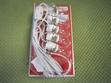 New ! Holiday Time Christmas 5-Bulb Accessory Village Light Cord
