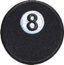 Iron On/ Sew On Embroidered Patch Badge Pool Ball Black Ball 8 Cue Play Table