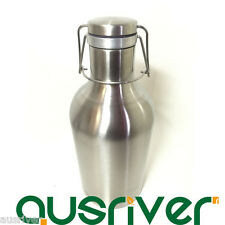 Double Layers Stainless Steel 2L/64oz Beer Keg Mini Growler Bottle Thermos Flask