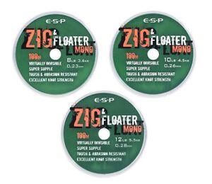 ESP Zig & Floater Mono Clearance Pack: 8lb (100m) (3 packs)