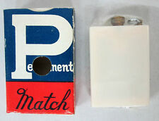 Vtg PERMANENT MATCH WHITE LIGHTER Made in Japan NOS SEALED Camping Survival US