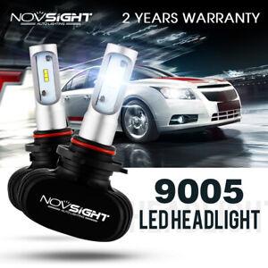 NOVSIGHT 9005 HB3 Car LED Headlight Bulbs Replace Halogen HID White 50W 8000LM