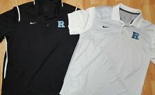 Lot Of 2~Men's XL NIKE Dri-Fit Black&Grey Short Sleeve Polo Shirts w/ Blue R EUC