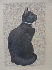 Black Cat Hand Painted Needlepoint Canvas Liz Dillon Susan Roberts AP462gb