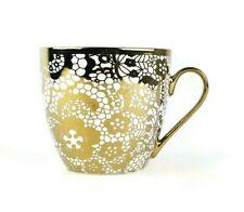 10 Strawberry Street Mug Coffee Cup Large 16 oz Tea Gold Lace Pattern Gift