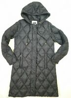Part Two Navy Quilted Longline Quilted Hooded Lightweight Warm Coat Size 36 (10)
