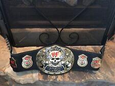 WWE Stone Cold 🔥Smoking🔥 Skull Championship Replica Title Belt ~ Leather~