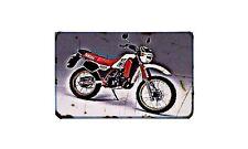 Dt 200R Motorbike Sign Metal Retro Aged Aluminium Bike