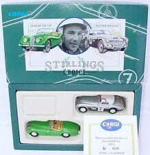 Corgi Toys 1:43 STIRLINGS CHOICE Jaguar XK 120 + Austin Healey Gift Set MIB`91