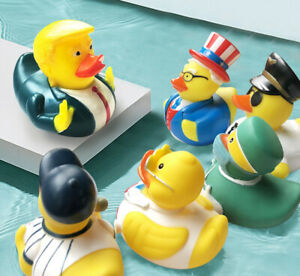 ESALINK 10CM Baby Bathing Toys Us President Trump Fun Rubber Duck Children'S Bat