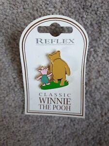 Disney Classic Winnie The Pooh & Piglet Enamel Pin Badge Uk Reflex Series