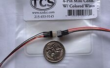 TCS Train Control Systems Mini 4 pin connector with coloured wires