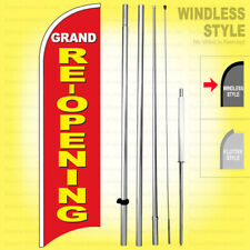 Grand Re Opening Windless Swooper Flag Kit 15 Feather Banner Sign Ryb H