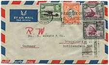 KENYA UGANDA TANGANYIKA, AIR MAIL FROM NAIROBI, 1950, 4 STAMPS KING GEORGE VI  m