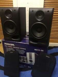 USED SONY SS-H70 2 WAYS SURROUNDS SPEAKERS 6OHMS 50WATTS INPUT SPEAKERS