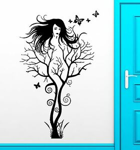 Wall Stickers Vinyl Decal Hot Sexy Girl Abstract Tree Modern Decor (ig1867)