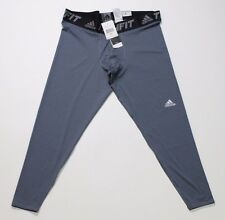 NWT Men's Adidas Tech Fit Climalite Compression Base Tight Gray Size 2XL
