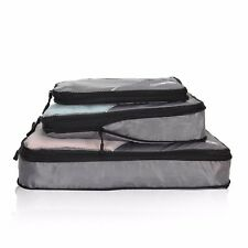 Compression Travel Packing Cubes Waterproof Carry Ons Expandable Storage Pouch