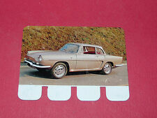 N°94 RENAULT CARAVELLE PLAQUE METAL COOP 1964 AUTOMOBILE A TRAVERS AGES