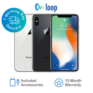 Apple iPhone X 64GB 256GB Unlocked Smartphone All Networks All Colours A1901