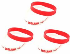 Zest 6 England St George Cross Wristbands Red & White