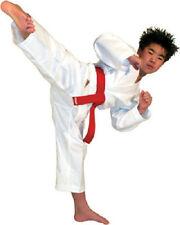 Student Karate Uniform Gi w/ White Belt Child Adult Size Gear Taekwondo Supplies