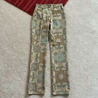 Anne Klein New York Womens 2 Multicolor Patterned Jeans Actual W 26 x I 32