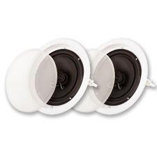 """Acoustic Audio SP-8c In Ceiling 8"""" Speaker Pair 2 Way Home Theater Speakers"""