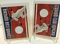 (2) LOT 2000 Topps Stadium Club Souvenirs Edgardo Alfonzo Game Used Jersey Mets