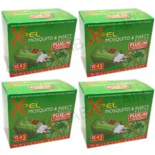 4 x XPEL MOSQUITO & INSECT RELIEF PLUG - IN DIFFUSER + 35ml RELIEF SOLUTION
