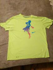 Nike lacrosse attackmen neon yellow shirt size men's Xl