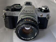 Canon AE-1 Program Film Camera & FD 50mm F1.8 S.C. Lens - Superb Condition